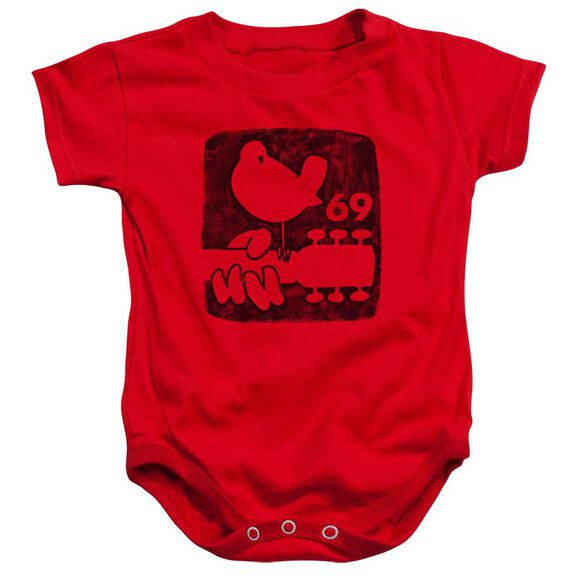 Woodstock Summer 69 Infant Snapsuit Red