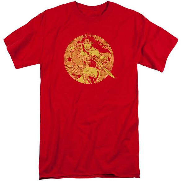 Jla Young Wonder Short Sleeve Adult Tall T-Shirt