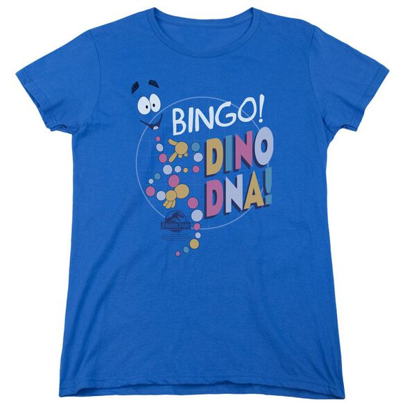 Jurassic Park Bingo Dino Dna Short Sleeve Women's Tee Royal T-Shirt