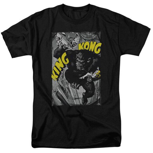 King Kong Crushing Poster Short Sleeve Adult T-Shirt