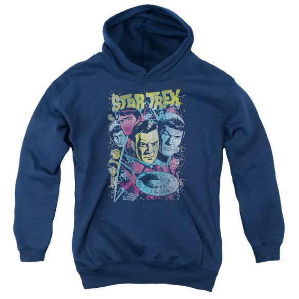 Star Trek Classic Crew Illustrated Youth Pull Over Hoodie