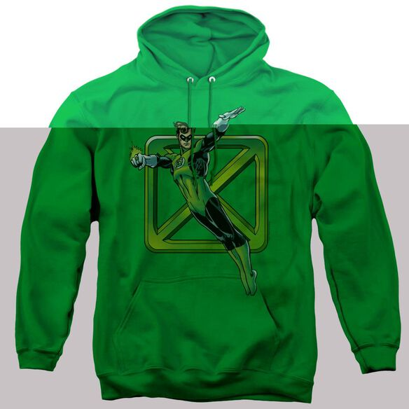 Dco Green Cross - Adult Pull-over Hoodie - Kelly Green