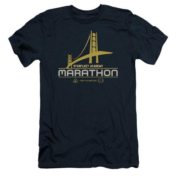 Star Trek Marathon Logo Short Sleeve Adult T-Shirt