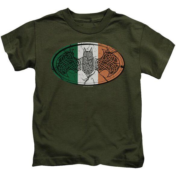 Batman Irish Celtic Symbol Short Sleeve Juvenile Military T-Shirt