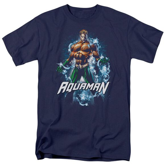 Jla Water Powers Short Sleeve Adult T-Shirt