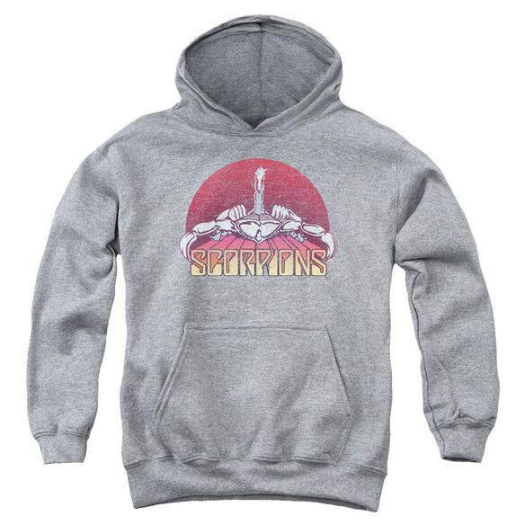 Scorpions Scorpions Color Logo Distressed Youth Pull Over Hoodie Athletic