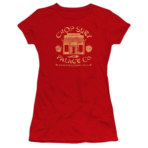 A Christmas Story Chop Suey Palace Co Hbo Short Sleeve Junior Sheer T-Shirt