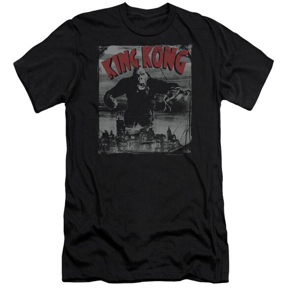 King Kong City Poster Premuim Canvas Adult Slim Fit