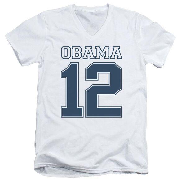 Obama 12 Short Sleeve Adult V Neck T-Shirt