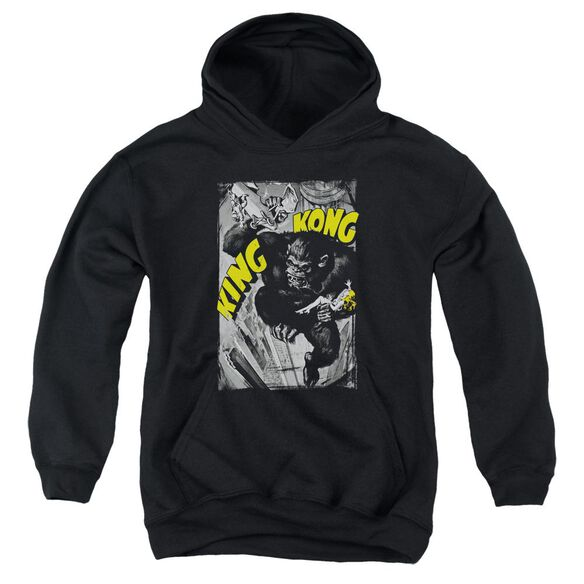 King Kong Crushing Poster Youth Pull Over Hoodie