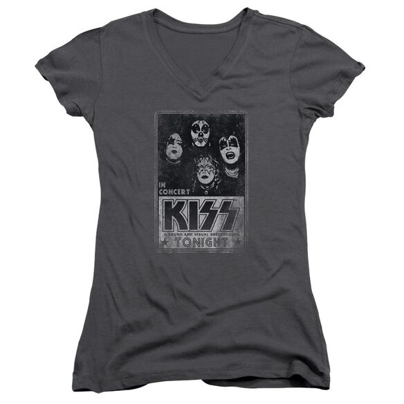 Kiss Live Junior V Neck T-Shirt