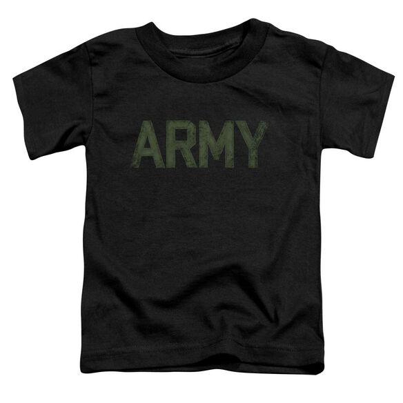 Army Type Short Sleeve Toddler Tee Black T-Shirt