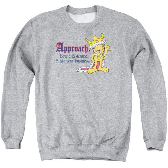Garfield State Your Business - Adult Crewneck Sweatshirt - Athletic Heather