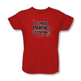 It Needs Breakling Short Sleeve Womens Tee T-Shirt