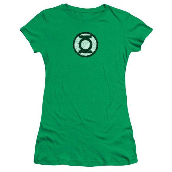 Lantern Scribble Lantern Logo Short Sleeve Junior Sheer Kelly T-Shirt