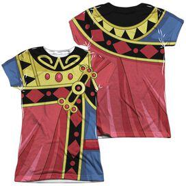 Voltron Zarkon Costume (Front Back Print) Short Sleeve Junior Poly Crew T-Shirt