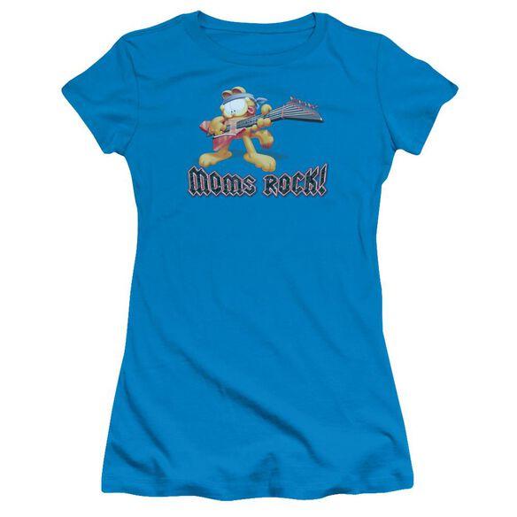 GARFIELD MOMS ROCK - S/S JUNIOR SHEER - TURQUOISE T-Shirt