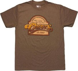 Cheers Round Top Sign T-Shirt Sheer