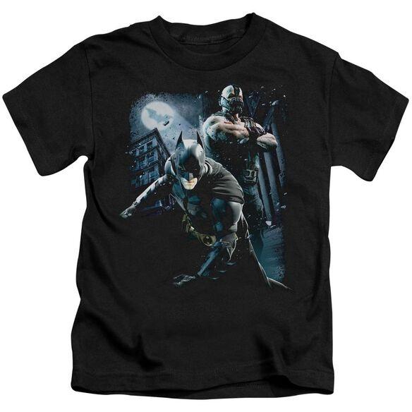 Dark Knight Rises Battlefield Gotham Short Sleeve Juvenile Black T-Shirt