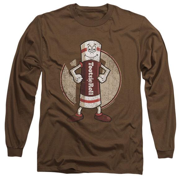 TOOTSIE ROLL TOOTSIE MAN - L/S ADULT 18/1 - COFFEE T-Shirt