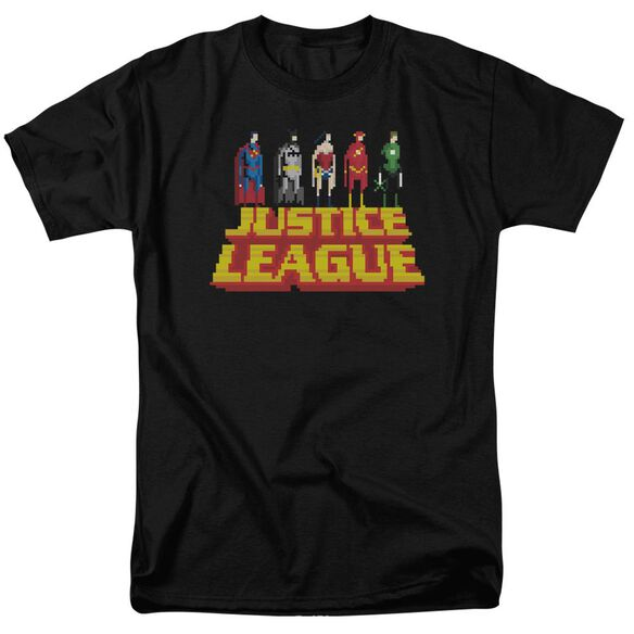 Jla Standing Above Short Sleeve Adult T-Shirt