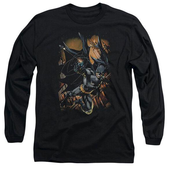 Batman Grapple Fire Long Sleeve Adult T-Shirt