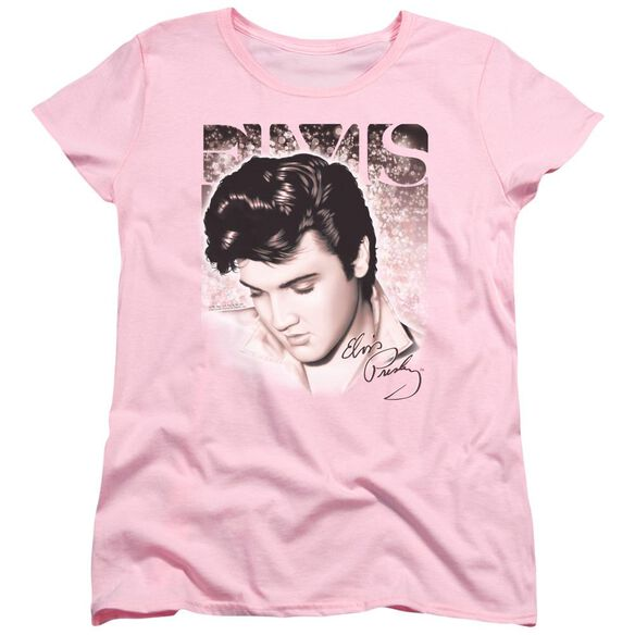 ELVIS PRESLEY STAR LIGHT - S/S WOMENS TEE - PINK T-Shirt