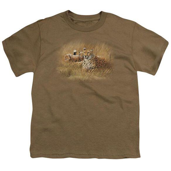 Wildlife Cheetah Family Short Sleeve Youth Safari T-Shirt