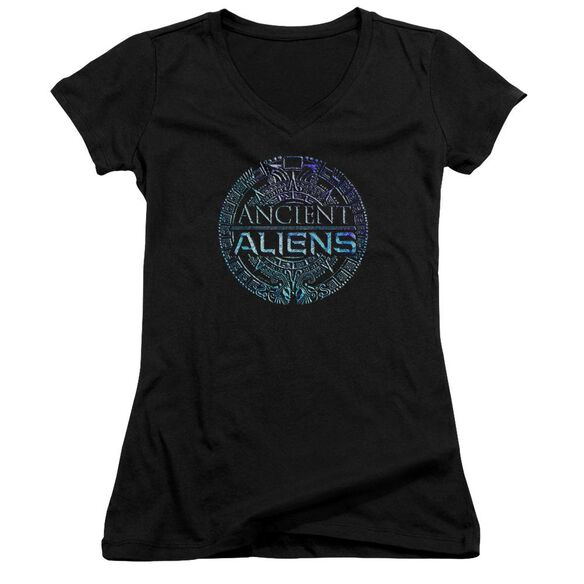 Ancient Aliens Symbol Logo Junior V Neck T-Shirt