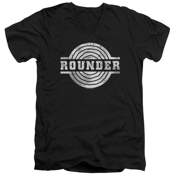 Rounder Rounder Retro Short Sleeve Adult V Neck T-Shirt