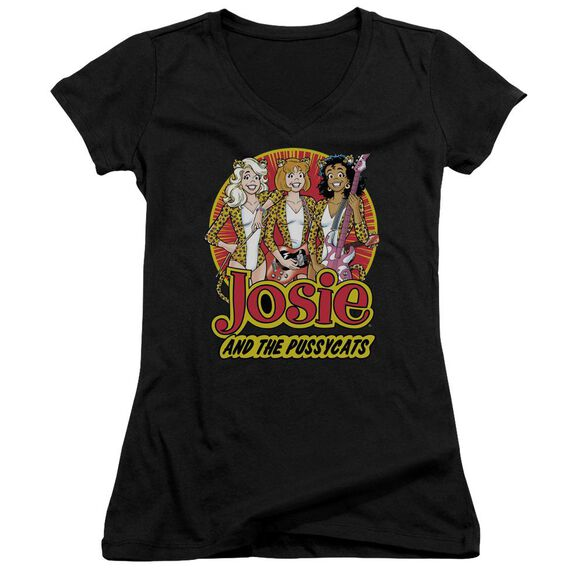 Archie Comics Power Trio Junior V Neck T-Shirt