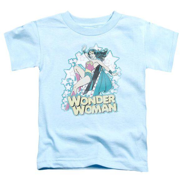 Dc I'm Wonder Woman Short Sleeve Toddler Tee Light Blue Md T-Shirt