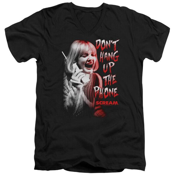 Scream Dont Hang Up Short Sleeve Adult V Neck T-Shirt