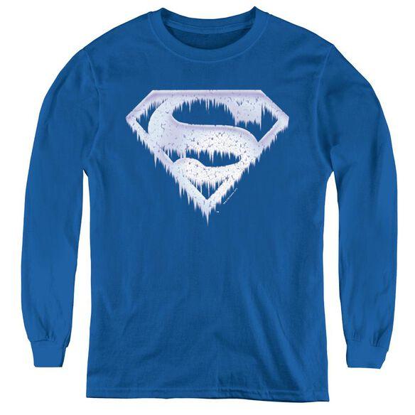 Superman Ice And Snow Shield - Youth Long Sleeve Tee -