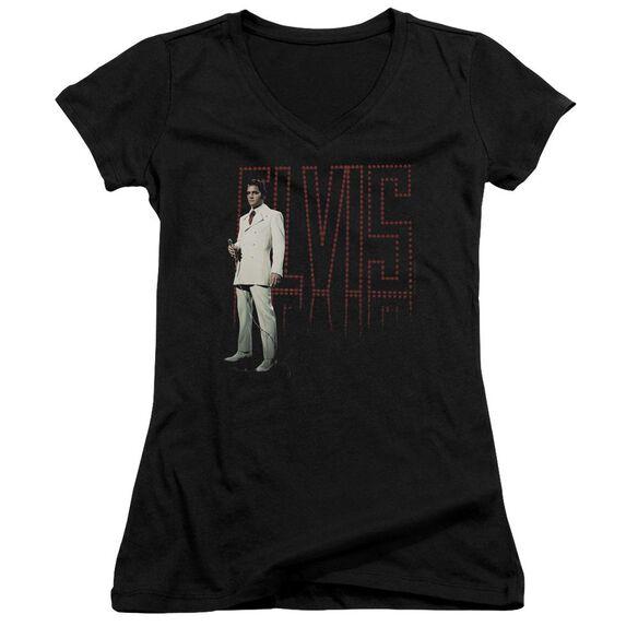 Elvis White Suit Junior V Neck T-Shirt