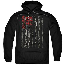 Seether Bone Flag Adult Pull Over Hoodie