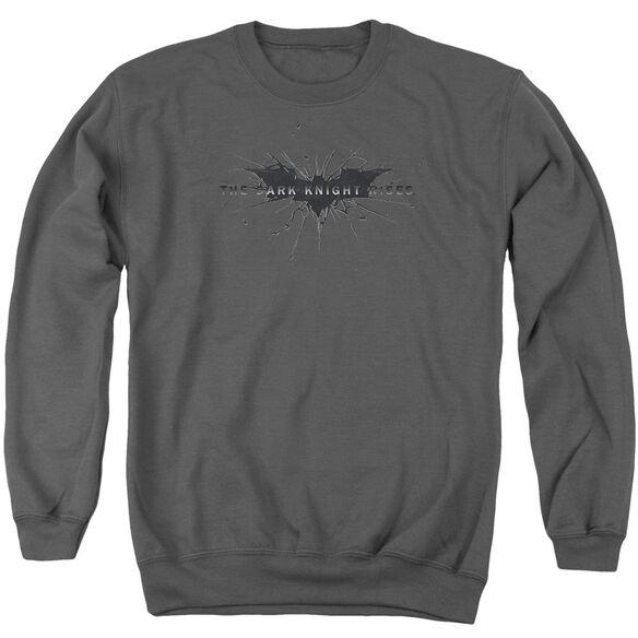 Dark Knight Rises Scratched Logo Adult Crewneck Sweatshirt