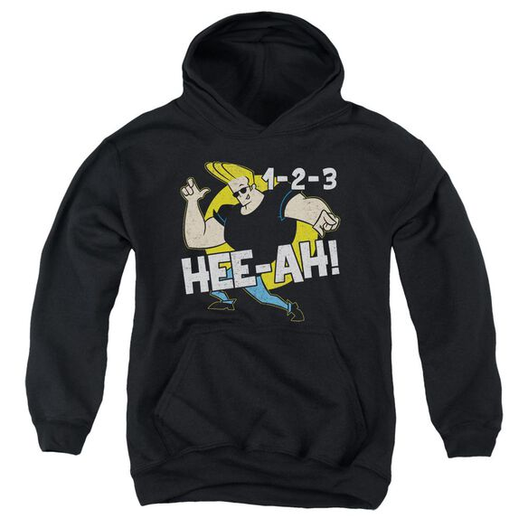 Johnny Bravo 123 Youth Pull Over Hoodie