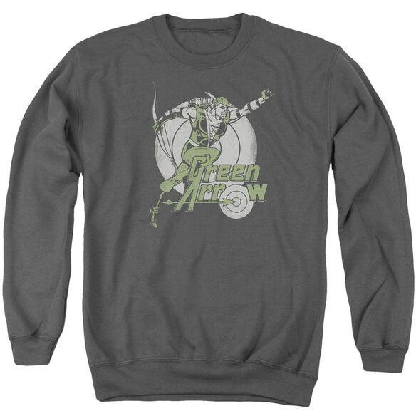 Dc Right On Target Adult Crewneck Sweatshirt