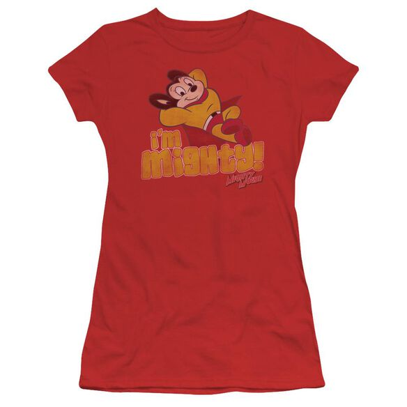 Mighty Mouse I'm Mighty Short Sleeve Junior Sheer T-Shirt
