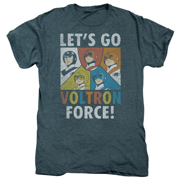 Voltron Force Short Sleeve Adult Premium Tee Steel Blue T-Shirt