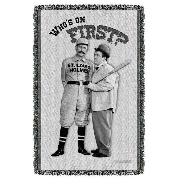 Abbott & Costello First Woven Throw