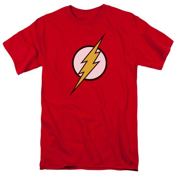 Jla Flash Logo Short Sleeve Adult T-Shirt
