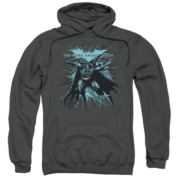 Dark Knight Rises Blue Crackle Adult Pull Over Hoodie