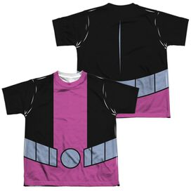 Teen Titans Go Beast Boy Uniform (Front Back Print) Short Sleeve Youth Poly Crew T-Shirt