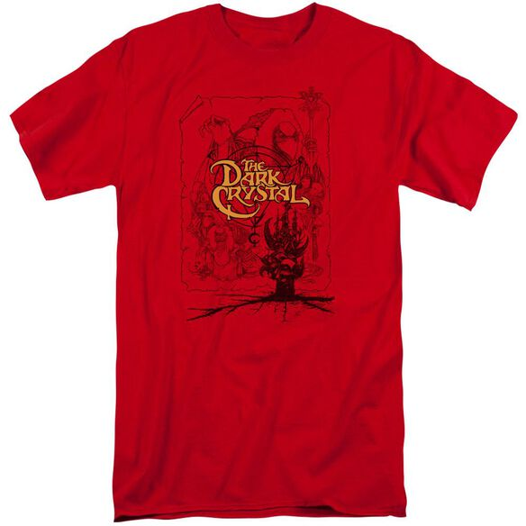 Dark Crystal Poster Lines Short Sleeve Adult Tall T-Shirt