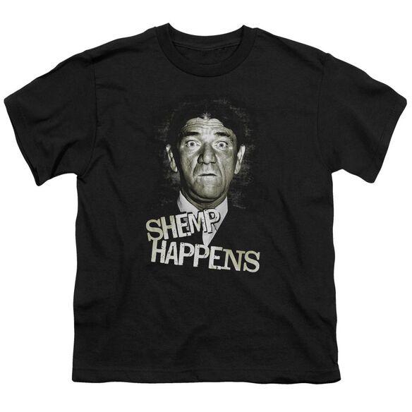 THREE STOOGE HEMP HAPPENS - S/S YOUTH 18/1 - BLACK T-Shirt