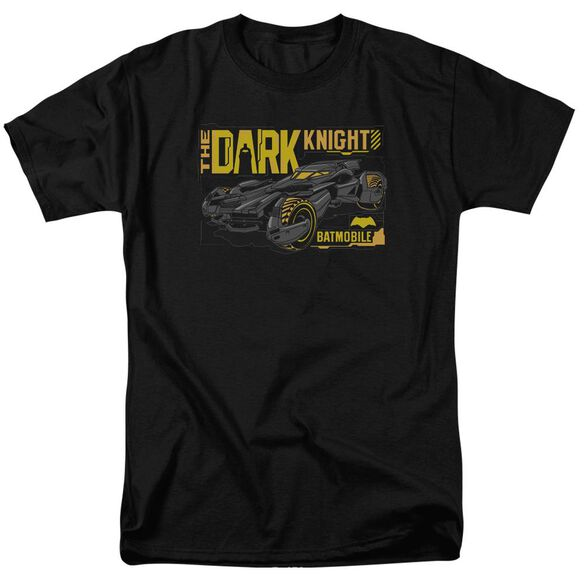Batman V Superman Mobile Dark Knight Short Sleeve Adult Black T-Shirt