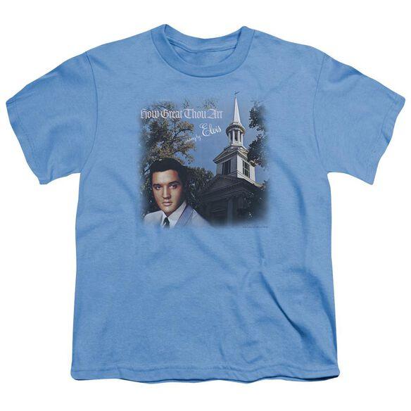 Elvis How Great Thou Art Short Sleeve Youth Carolina T-Shirt