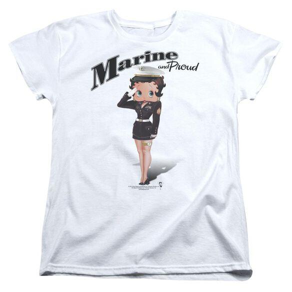 Betty Boop Marine Boop Short Sleeve Womens Tee T-Shirt